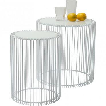 Mesa Auxiliar Wire blanco