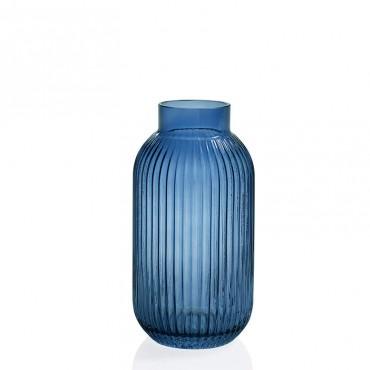 Florero Vidrio Shell Azul...