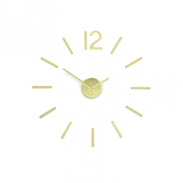 Blink Clock Brass