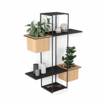 Cubist Multi Shelf Sand/Blk