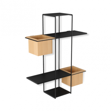 Cubist Multi Shelf Sand/Blk