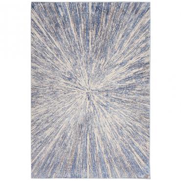 Alfombra Silky Azul/Gris...