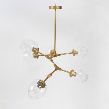 Lámpara Colgante 6 Luces Metal
