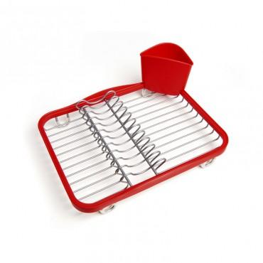 Sinkin Dish Rack Red/Nkl