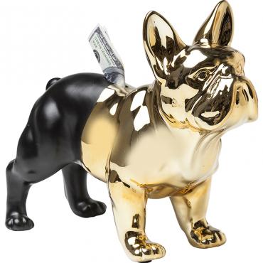 Alcancía Bulldog Oro-Negro