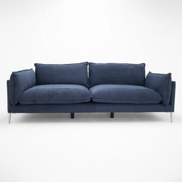 Sofá Kevin 3 Plazas Azul