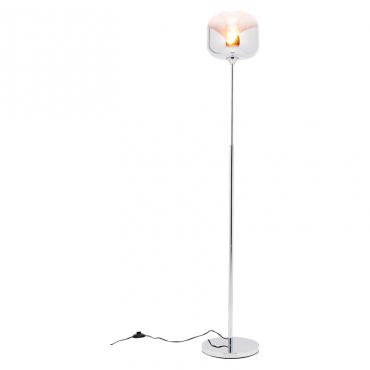 Floor  Lamp Chrome Goblet Ball