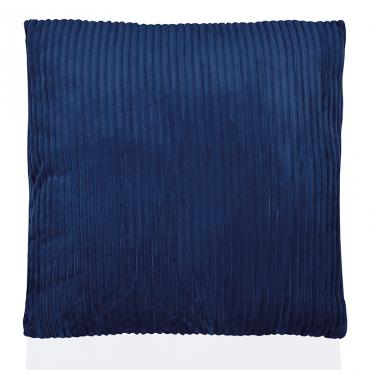 Cojin Corderoy Azul 45X45Cm
