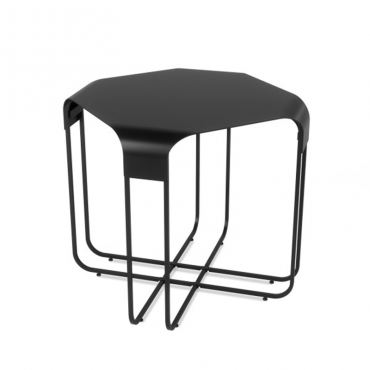 Graph Side Table Black
