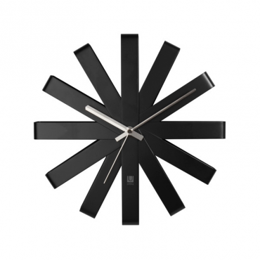 Ribbon Wall Clock 12In Black