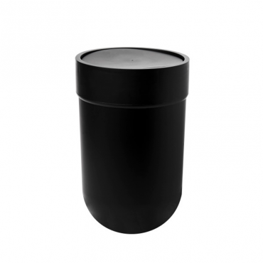 Touch Waste Can W Lid Black