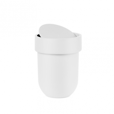 Touch Waste Can W Lid White