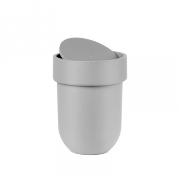 Touch Waste Can W Lid Grey