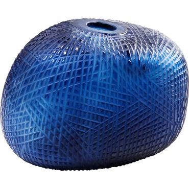 Jarrón Recortado Azul 23cm